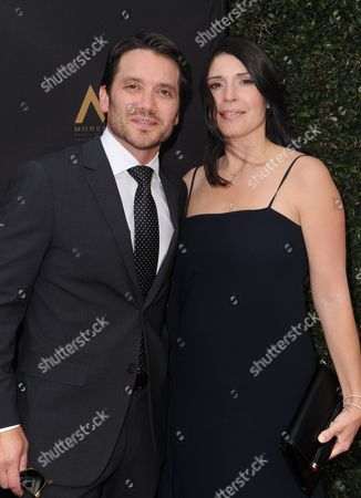 Stock Photo of Dominic Zamprogna, left, and Linda Leslie arrive at the 43rd annual Daytime Emmy Awards at the Westin Bonaventure Hotel, in Los Angeles