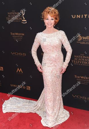 Patsy Pease arrives at the 43rd annual Daytime Emmy Awards at the Westin Bonaventure Hotel, in Los Angeles
