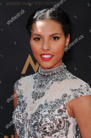 Felisha Cooper arrives at the 43rd annual Daytime Emmy Awards at the Westin Bonaventure Hotel, in Los Angeles