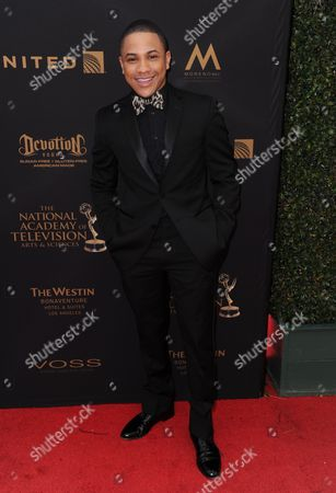 Tequan Richmond arrives at the 43rd annual Daytime Emmy Awards at the Westin Bonaventure Hotel, in Los Angeles