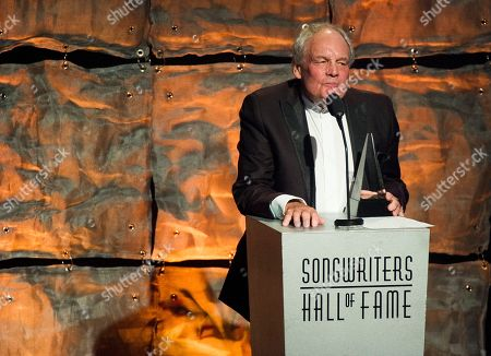 Inductee Tony Hatch accepts his award at the Songwriters Hall of Fame 44th annual induction and awards gala on in New York
