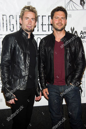 Chad Kroeger, left, and Ryan Peake attend the Songwriters Hall of Fame 44th annual induction and awards gala on in New York