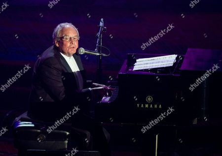Inductee Tony Hatch performs at the Songwriters Hall of Fame 44th annual induction and awards gala on in New York
