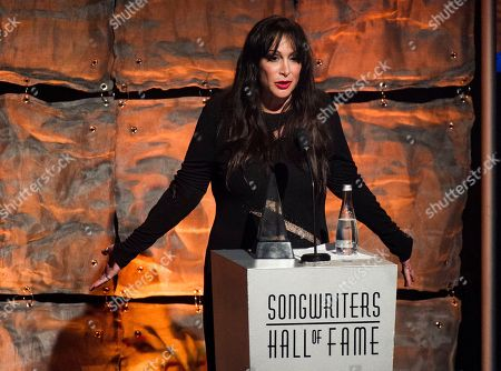 Stock Picture of Inductee Holly Knight accepts her award at the Songwriters Hall of Fame 44th annual induction and awards gala on in New York