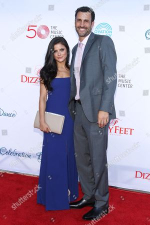 Courtney Galiano, left, and James Larosa attend the 4th Annual Celebration of Dance Gala at the Dorothy Chandler Pavilion on in Los Angeles, Calif