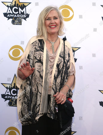 Janie Fricke arrives at the 50th annual Academy of Country Music Awards at AT&T Stadium, in Arlington, Texas