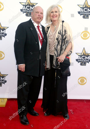 Jeff Steele, left, and Janie Fricke arrive at the 50th annual Academy of Country Music Awards at AT&T Stadium, in Arlington, Texas