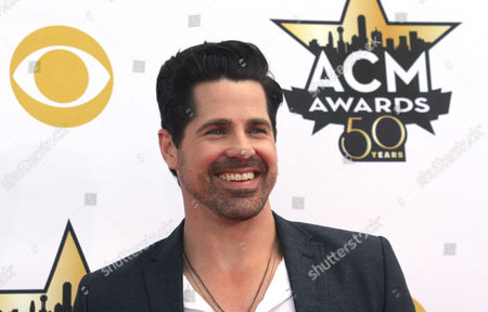 JT Hodges arrives at the 50th annual Academy of Country Music Awards at AT&T Stadium, in Arlington, Texas