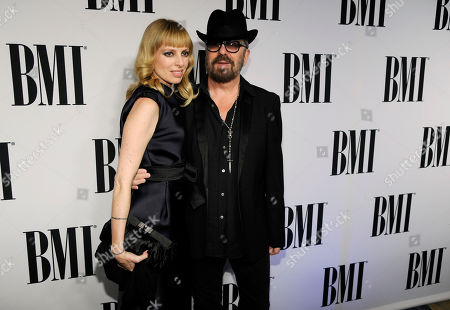 Anoushka Fisz, left, and David A. Stewart arrive at the 62nd Annual BMI Pop Awards at the Beverly Wilshire Hotel, in Beverly Hills, Calif