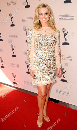 AUGUST 11: KTTV/KCOP's Courtney Friel arrives at the Academy of Television Arts & Sciences 64th Los Angeles Area Emmy Awards on in Los Angeles, California