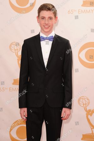 Jackson Pace arrives at the 65th Primetime Emmy Awards at Nokia Theatre, in Los Angeles