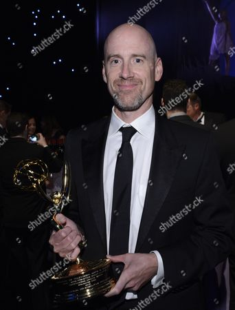 Stock Photo of Exclusive - Sam Catlin is seen at the Governors Ball at the 65th Primetime Emmy Awards at Nokia Theatre, in Los Angeles