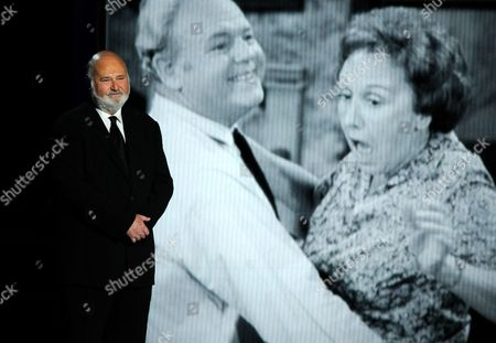 Rob Reiner presents a tribute to Jean Stapleton at the 65th Primetime Emmy Awards at Nokia Theatre, in Los Angeles
