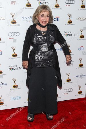 Actress June Foray arrives at the 65th Primetime Emmy Awards Performers Nominee Reception at the Pacific Design Center on in Los Angeles