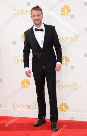 Aaron Staton arrives at the 66th Primetime Emmy Awards at the Nokia Theatre L.A. Live, in Los Angeles