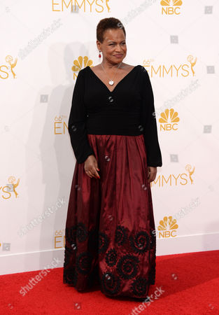 Stock Picture of Michelle Hurst arrives at the 66th Primetime Emmy Awards at the Nokia Theatre L.A. Live, in Los Angeles