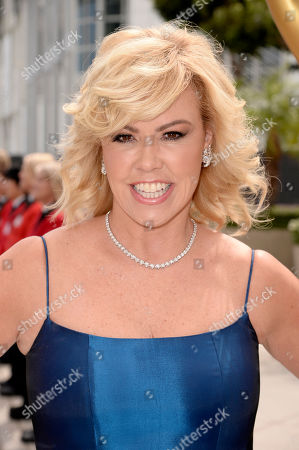 Mary Murphy arrives at the 66th Primetime Emmy Awards at the Nokia Theatre L.A. Live, in Los Angeles