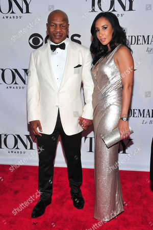 Mike Tyson and Lakiha Spicer arrives on the red carpet at the 67th Annual Tony Awards, on in New York