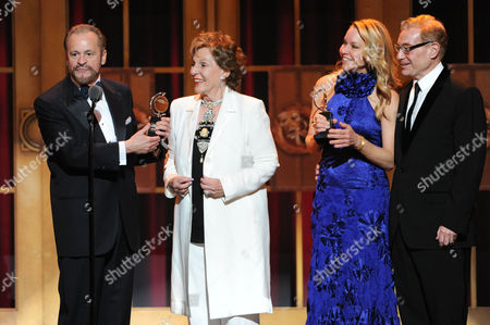 "Pippin"" producers, from left, Barry Weissler, Fran Weissler, Janet Kagan and Howard Kagan accept the Tony award for best revival of a musical at the 67th Annual Tony Awards, on in New York"