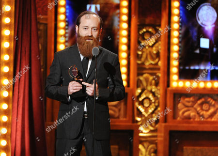 """Stock Picture of Leon Rothenberg accepts the award for best sound design for """"The Nance"""" at the 67th Annual Tony Awards, on in New York"""