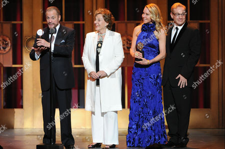 "The producers of ""Pippin,"" from left, Barry Weissler, Fran Weissler, Janet Kagan and Howard Kagan accept the award for Best Revival if a Musical, at the 67th Annual Tony Awards, on in New York"