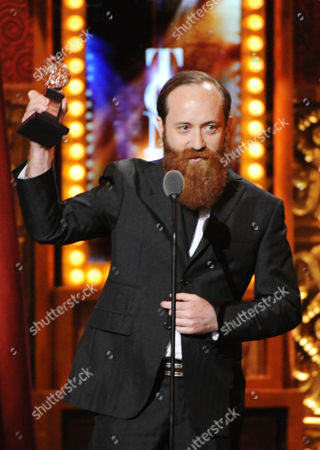 """First Last Leon Rothenberg accepts the award for best sound design for """"The Nance"""" at the 67th Annual Tony Awards, on in New York"""