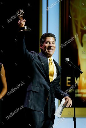 Christopher Wolfe speaks at the 67th Los Angeles Area Emmy Awards at the Skirball Cultural Center on