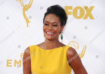 Sufe Bradshaw arrives at the 67th Primetime Emmy Awards, at the Microsoft Theater in Los Angeles