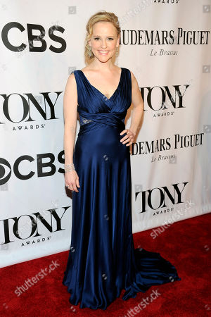 Anika Larsen arrives at the 68th annual Tony Awards at Radio City Music Hall, in New York