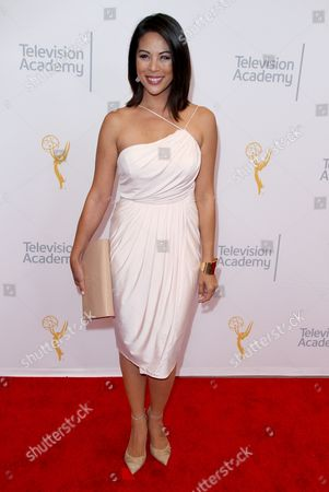 Cher Calvin arrives at the L.A. Area Emmy Awards presented at the Television Academy's new Saban Media Center, in the NoHo Arts District in Los Angeles