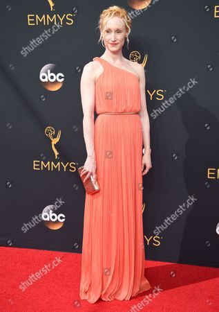 Angela Christian arrives at the 68th Primetime Emmy Awards, at the Microsoft Theater in Los Angeles