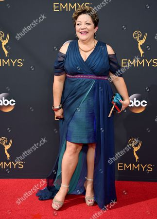 Sol Miranda arrives at the 68th Primetime Emmy Awards, at the Microsoft Theater in Los Angeles