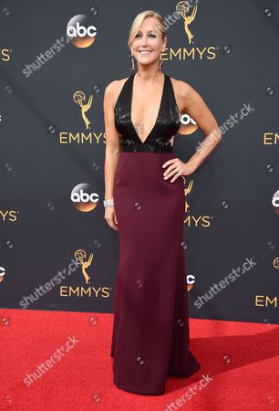 Carrie Aizley arrives at the 68th Primetime Emmy Awards, at the Microsoft Theater in Los Angeles