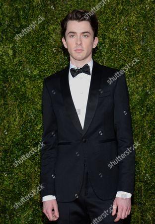 Matthew Beard arrives at the 69th annual Tony Awards at Radio City Music Hall, in New York