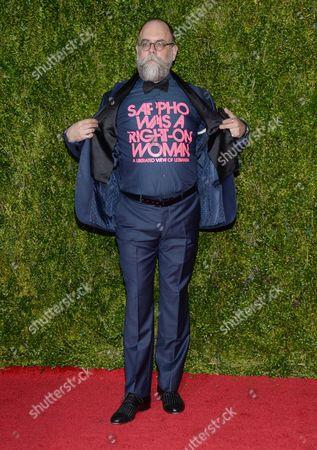 David Zinn arrives at the 69th annual Tony Awards at Radio City Music Hall, in New York