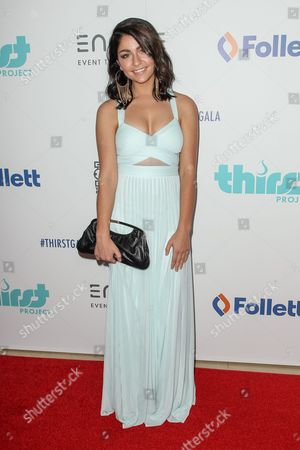 Andrea Russett attends the 6th Annual Thirst Gala at The Beverly Hilton Hotel on in Beverly Hills, Calif