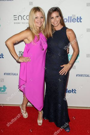 Clare Kramer, left, and Charisma Carpenter attend the 6th Annual Thirst Gala at The Beverly Hilton Hotel on in Beverly Hills, Calif