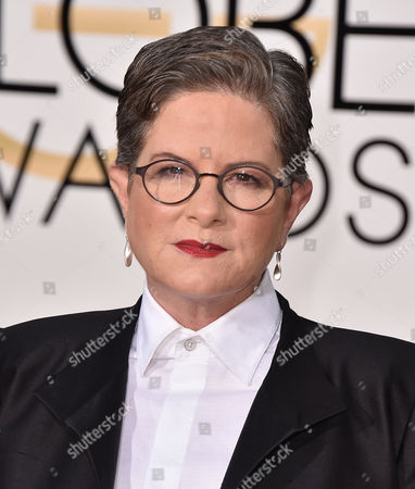 Phyllis Nagy arrives at the 73rd annual Golden Globe Awards, at the Beverly Hilton Hotel in Beverly Hills, Calif