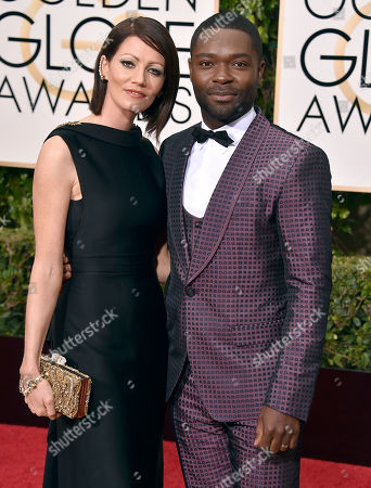 Stock Photo of David Oyelowo, right, and Jessica Oyelow arrive at the 73rd annual Golden Globe Awards, at the Beverly Hilton Hotel in Beverly Hills, Calif