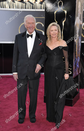 Actor Christopher Plummer and Elaine Taylor arrive at the 85th Academy Awards at the Dolby Theatre, in Los Angeles