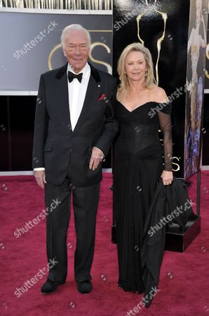 Actor Christopher Plummer and wife Elaine Taylor arrive at the 85th Academy Awards at the Dolby Theatre, in Los Angeles