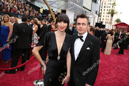 Stock Image of Karen O and Barney Clay arrive at the Oscars, at the Dolby Theatre in Los Angeles
