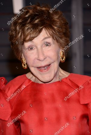 Stock Photo of Betsy Bloomingdale arrives at the 2015 Vanity Fair Oscar Party, in Beverly Hills, Calif
