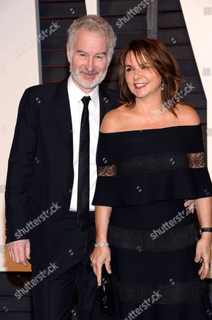 John McEnroe, left, and Patty Smith arrive at the 2015 Vanity Fair Oscar Party, in Beverly Hills, Calif