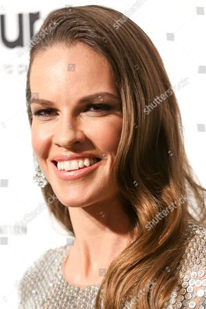 Stock Photo of Hillary Swank arrives at the 2016 Elton John AIDS Foundation Oscar Viewing Party at West Hollywood Park, in West Hollywood, Calif