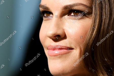 Stock Image of Hillary Swank arrives at the 2016 Elton John AIDS Foundation Oscar Viewing Party at West Hollywood Park, in West Hollywood, Calif