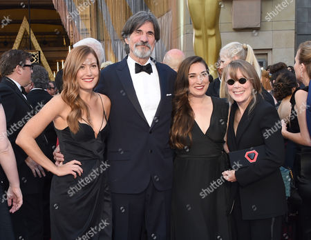 Stock Photo of Schuyler Fisk, from left, Jack Fisk, Madison Fisk, and Sissy Spacek arrive at the Oscars, at the Dolby Theatre in Los Angeles