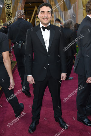 Naji Abu Nowar arrives at the Oscars, at the Dolby Theatre in Los Angeles