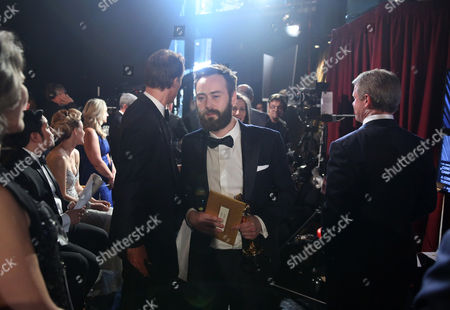 Benjamin Cleary appears backstage at the Oscars, at the Dolby Theatre in Los Angeles
