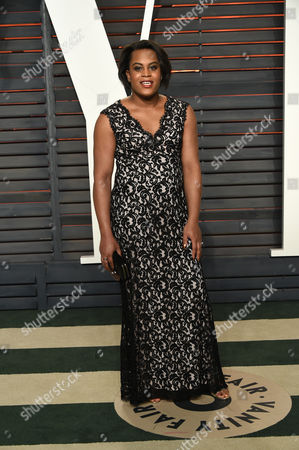 Stock Image of Mya Taylor arrives at the Vanity Fair Oscar Party, in Beverly Hills, Calif
